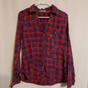 Maurices | Distressed Plaid Button Down